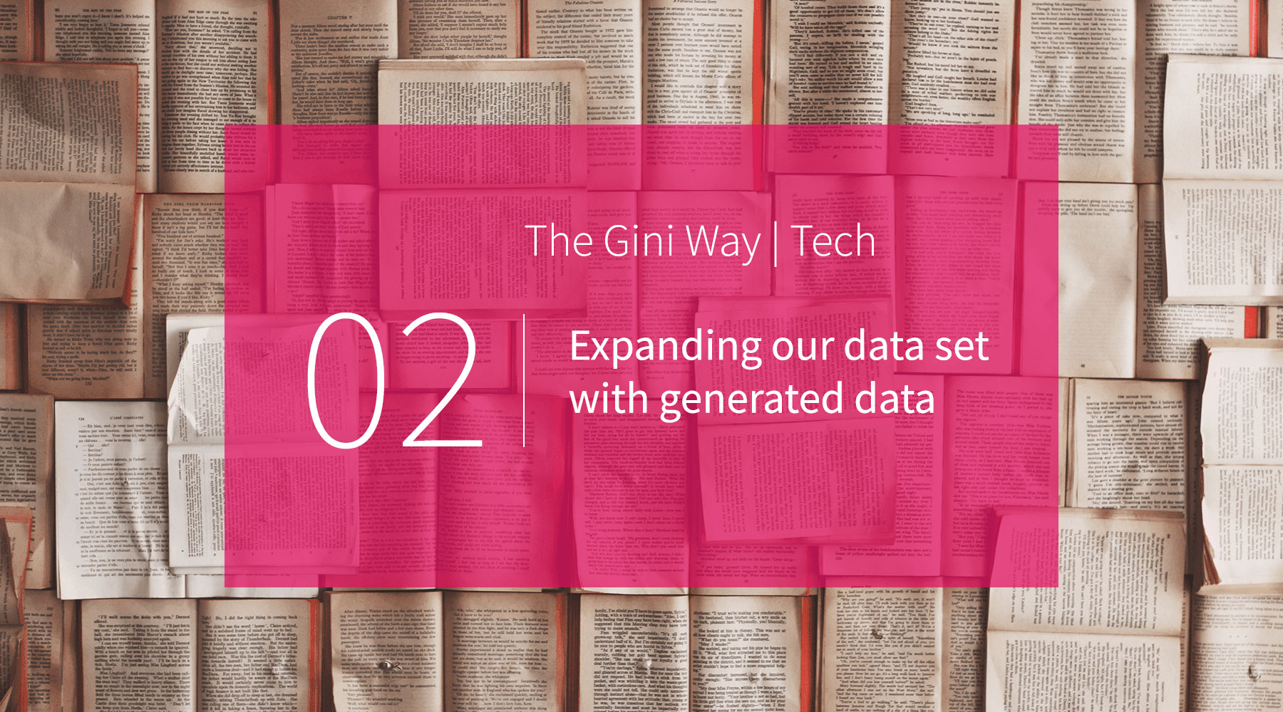 Expanding our data set with generated data