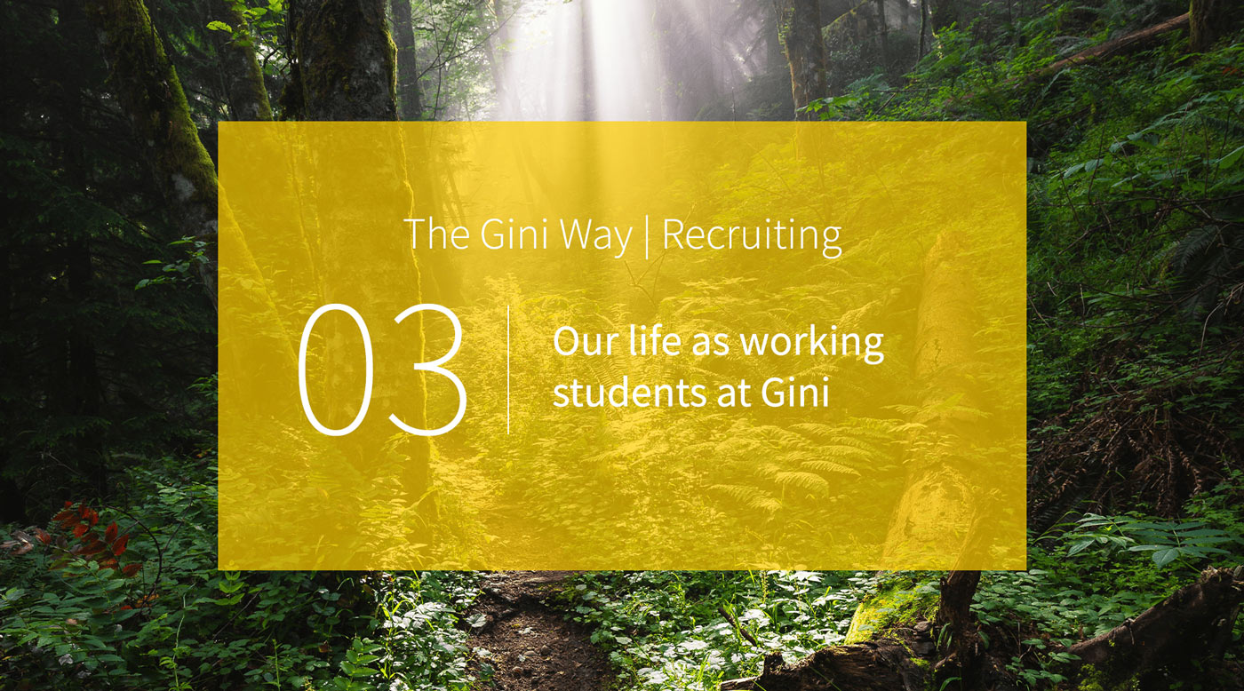 Our life as working students at Gini