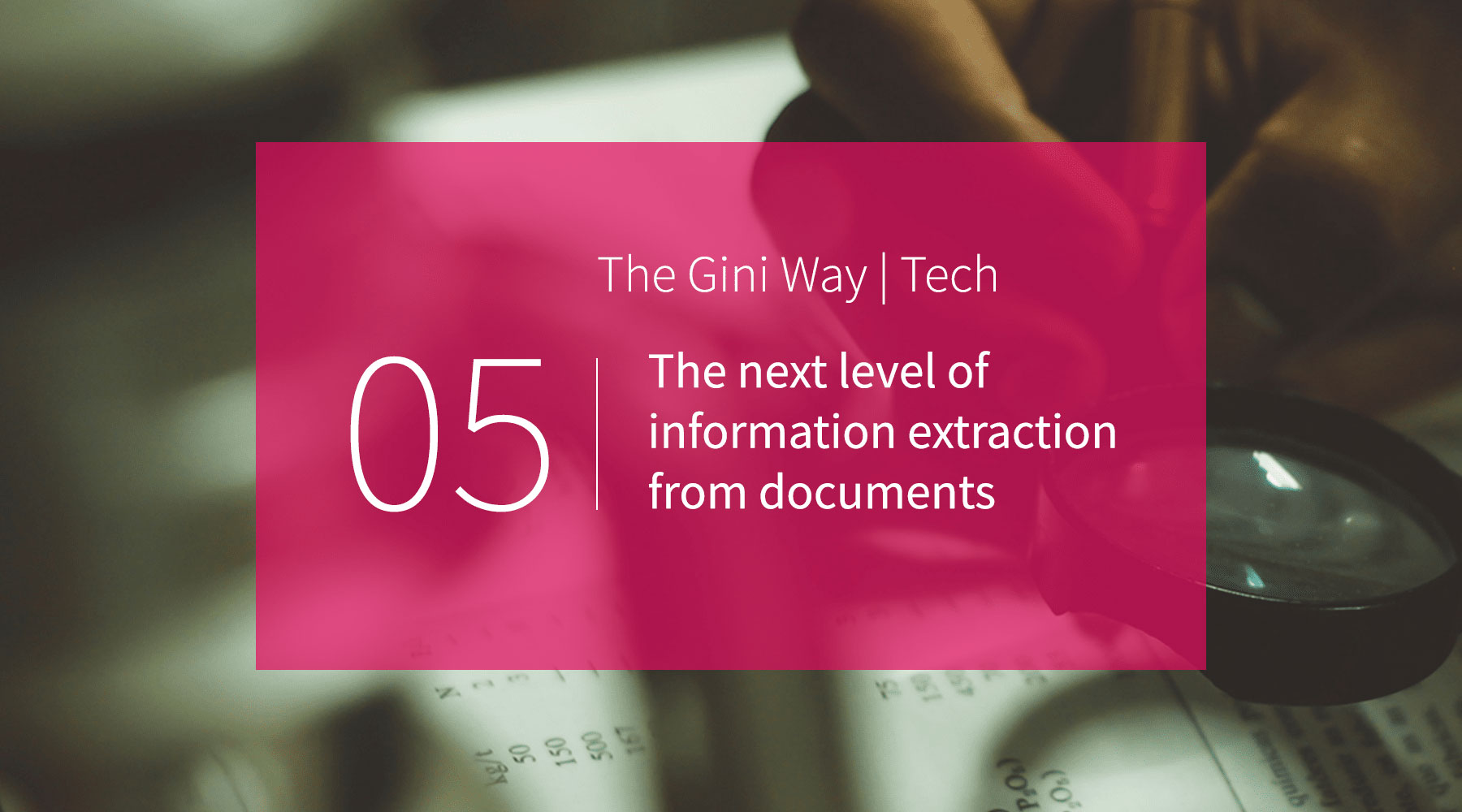 The next level of information extraction from documents