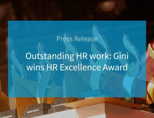 Herausragende HR-Arbeit: Gini gewinnt den HR Excellence Award 2020