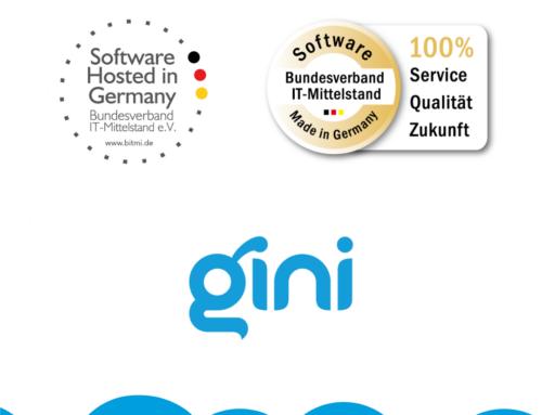 Gini erhält Zertifizierungen: Software Hosted in Germany und Software Made in Germany